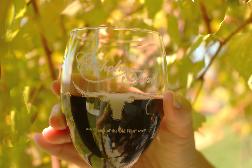 Chisholm Trail Winery Wine Glass (Fredericksburg, TX)