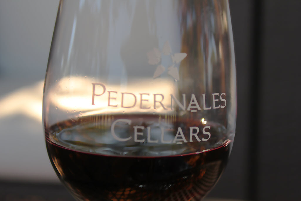 Pedernales Cellars Wine Glass (Stonewall, TX)